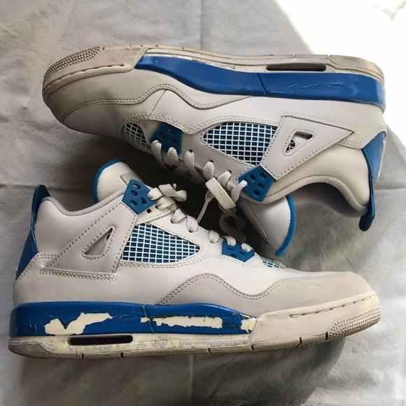 Jordan Shoes | Air Retro 4s White Blue